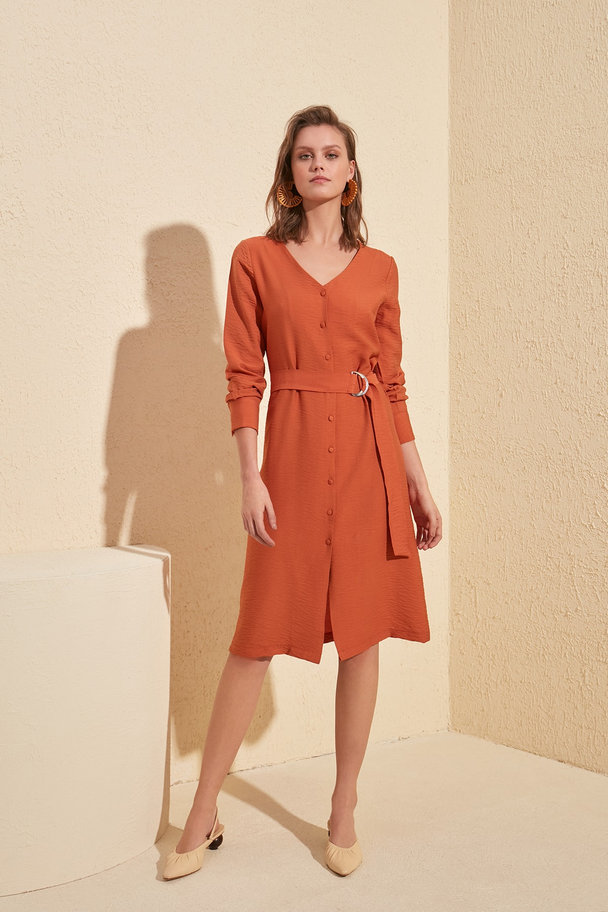 Trendyol Arched Dress TWOSS20EL0543