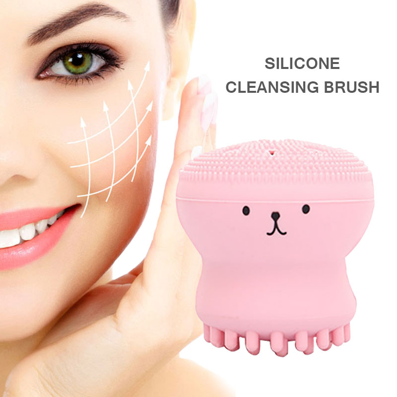 2019 Silicone Face Cleansing Brush Facial Cleanser Pore Cleaner Exfoliator Face Scrub Washing Brush Skin Care Cute Octopus Shape