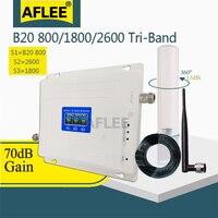 Tri-Band LTE B20 800 1800 2600 Mhz 4G Handy Booster Handy Signal Verstärker 2G 4G Cellular Repeater LTE DCS 4G Booster Set