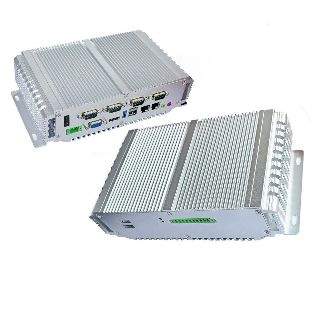 Intel Celeron J1900 CPU Mini Desktop Computer 2*lan 6*COM 4Gb Ram 64G SSD Industrial Embedded Pc