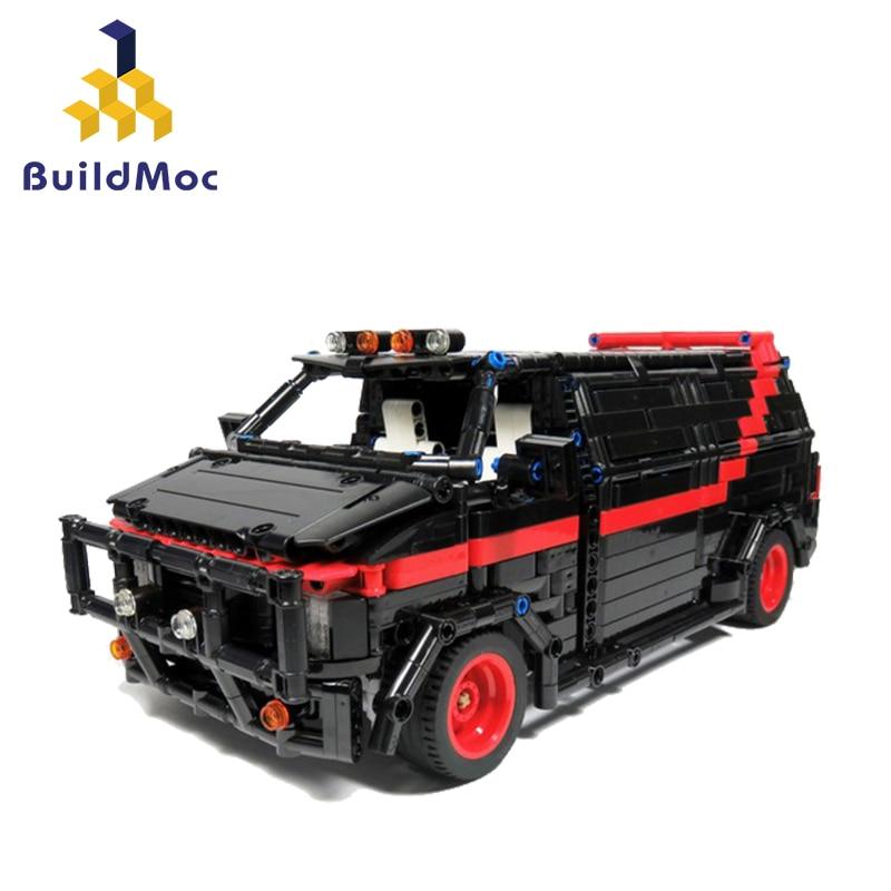 BuildMoc City Police Station Car Building Blocks For City SWAT Team Truck House Blocks Technic Diy Toy For Boys Children
