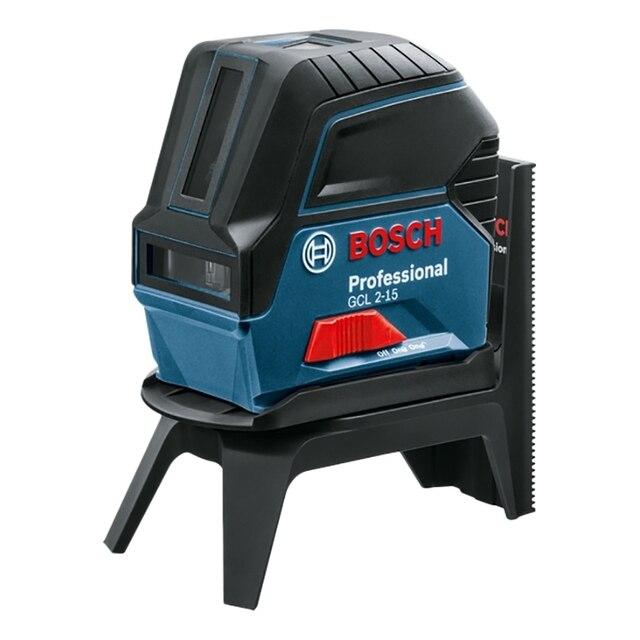 Нивелир лазерный Bosch GCL 2-15+RM1+BM3 (Вертикальная и горизонтальная проекция, рабочее расстояние 10 м., погрешность 0