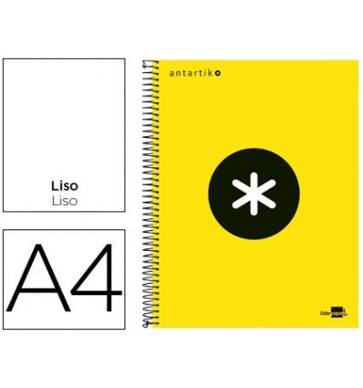 SPIRAL NOTEBOOK LEADERPAPER A4 MICRO ANTARTIK LINED TOP 120H 100 GR WITH BANDS 4 HOLES YELLOW