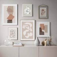 خلاصة هندسية جرافيك اسكندنافية حائط لوح رسم صورة فنية ملصق طباعة معرض غرفة المعيشة ديكور المنزل Unframe