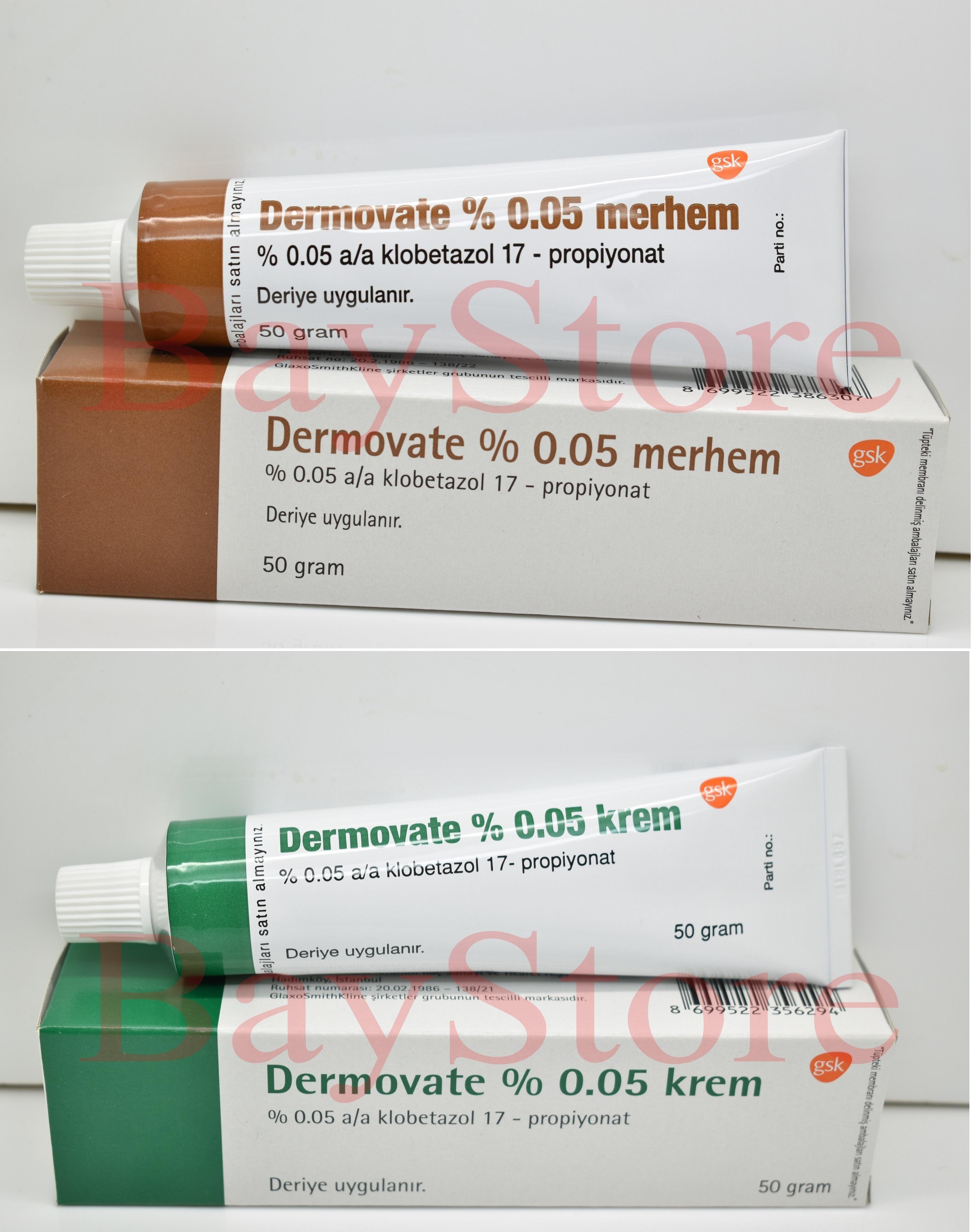 Dermovate Cream And Ointment (Clobetasol Propionate) 0.05% 50 Gr