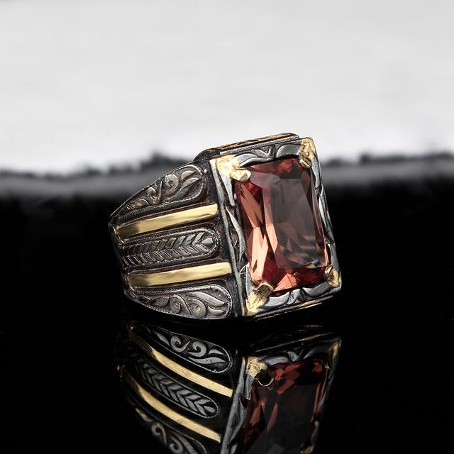 Handmade Mens Silver Zultanite Ring, Man 925 Silver Ring, Zultanite Ring, Silver Handmade Rectangular Zultanit Ring