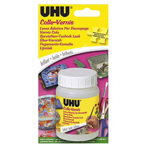 47375 Creativ Adhesive Lacquer For Decoupage, 150 Ml, Uhu