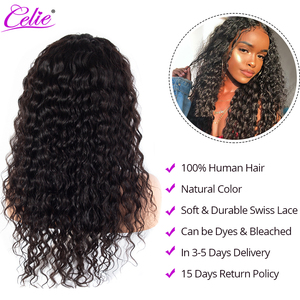 Image 5 - Celie Water Wave Wig 13x6 Lace Front Human Hair Wigs 150 180 250 Density Wet And Wavy Human Hair Wigs Water Wave Lace Front Wig