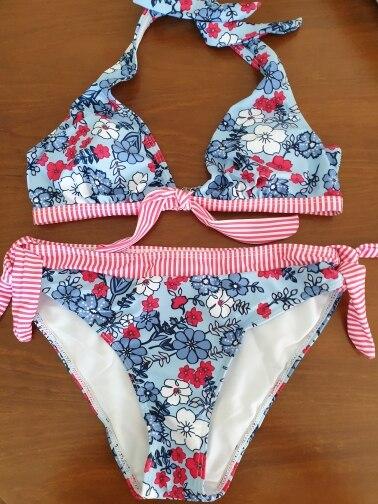 Swim Suit For Women Sexy Bikinis Push Up Swimwear Backless Bathing Suit Brazilian Split Swimsuit Flower Beach Wear Biquinis Set|Bikini Set|   - AliExpress