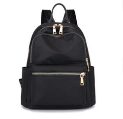 New Fashion Sports Lady Backpack Outdoor Nylon Casual Travel Black Backpack