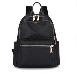 Nueva moda deportiva señora mochila exterior Nylon Casual viaje Negro Mochila