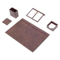 Leather Desk Set 5 Pieces (Desk Organizer, Office Accessories, Desk Accessories, Office Supplies, Office Organizer)