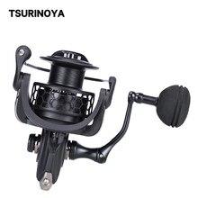 Tsurinoya fiação carretel de pesca na 2000 3000 4000 5000 9bb relação de alta velocidade 5.2:1 fluxo de pouco peso tout roda de fiação de graves