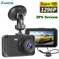 1296P HD Car DVR Camera Dashcam 3 Inch IPS Screen 170 ° Wide Angle Loop Drive Recorder Registrator Car DVR Parking Monitor