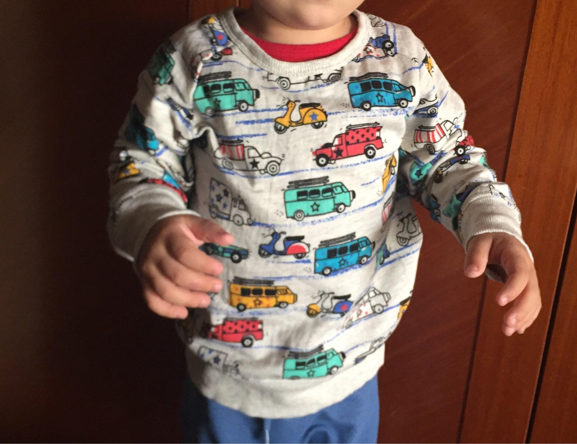 SAILEROAD Cartoon Car Print Boys Sweatshirts for Kids Clothes Autumn Children Hoodies Clothing 2019 Kids Girls Christmas Costume photo review