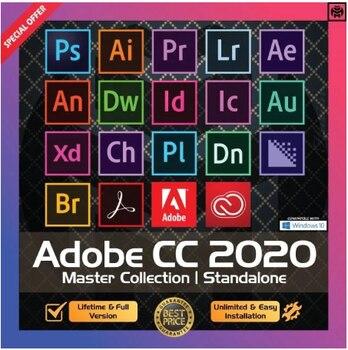 Adobe Creative Cloud 2021 Master Collection Windows / Mac OS Livraison instantanée préactivée en version originale et complète