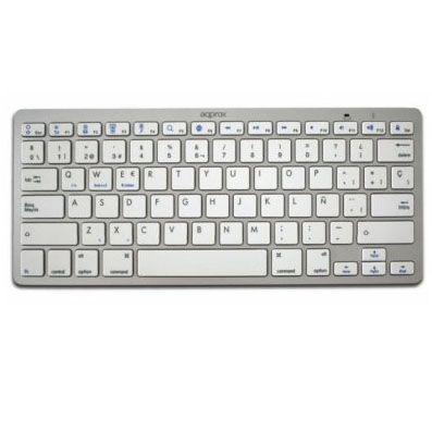 Bluetooth Keyboard Approx Universal Bt3.0 Color Silver Appkbbt02s