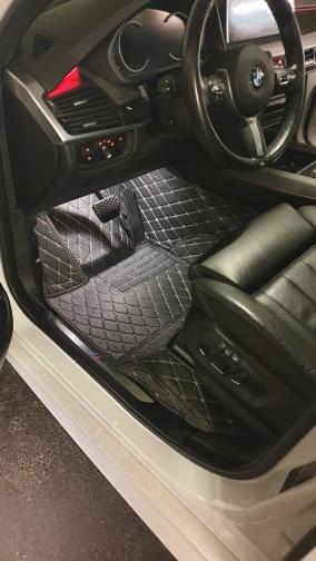 Custom Made Luxury Black Diamond Car Floor Mats photo review