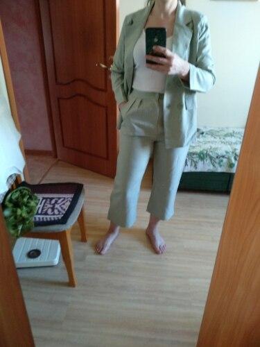 Autumn Winter  Women Lace Up Pant Suit Notched Blazer Jacket & Pant Office Wear Suits Female Sets reviews №3 115326
