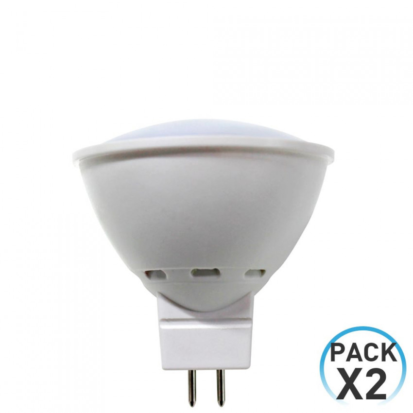 Pack 2 LED Bulbs Spotlight GU5.3 6W Equi.50W 540lm 3000K 25000H 7hDayron