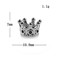 Charm Crown brons fashion kralen big hole DIY armband ACCESSOIRES jewerly(China)