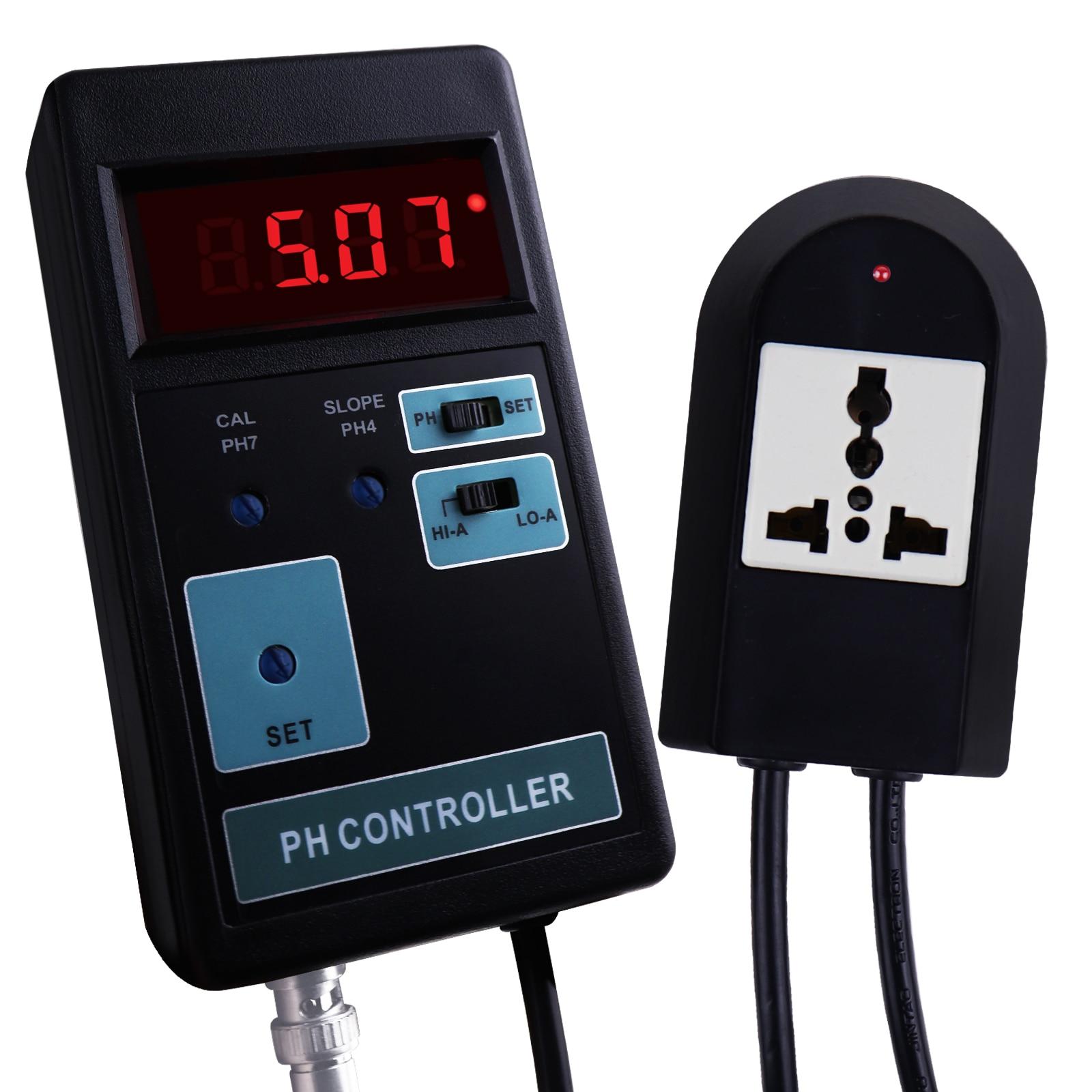 デジタル ph 計コントローラ 14.00pH 範囲 w/校正ソリューション & ソケット、 led ディスプレイ、で利用可能 110 v/220 v -