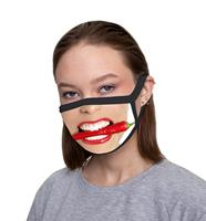 Mask protective cloth creepy teeth, stylish trend cool accessory, anti dust and viruses, mask with print