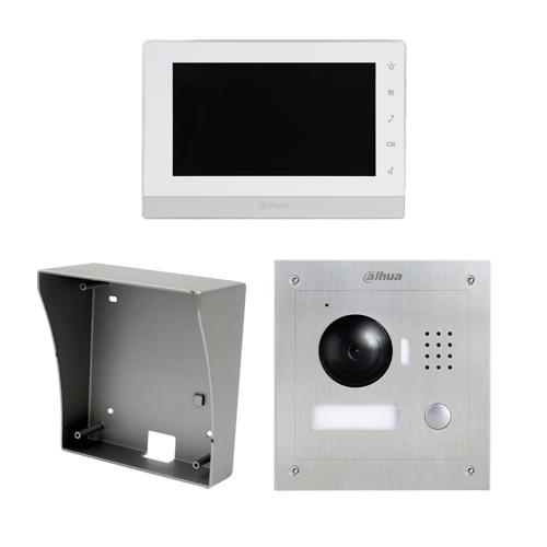 Kit Video Door Phone IP Surface TFT LCD 7