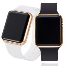 Męski Sport LED cyfrowy zegarek mężczyźni kobiety silikonowy elektroniczny zegarek na rękę zegarek wojskowy relogio cyfrowy masculino montre homme tanie tanio JBAILI STAINLESS STEEL CN (pochodzenie) 24cm Nie wodoodporne Moda casual Klamra Rectangle 20mm Z tworzywa sztucznego Odporny na wstrząsy