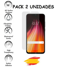 2X Protector for XIAOMI note redmi 8T Tempered glass crystal Shockproof 9 h, 2 Units