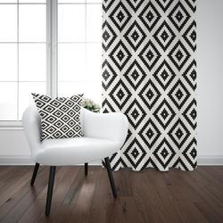 Черный белый Ogee геометрический Nordec винтажный 3D принт гостиная спальня оконная панель занавес комбинированный подарок наволочка