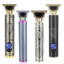 Tondeuse à cheveux électrique T9 pour hommes, rasoir pour barbier, pour chauve, zéro écart, Machine de coupe de cheveux