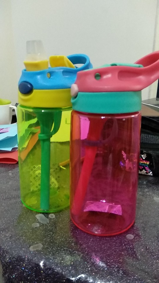 New 500ML 4 Colors Baby Water Bottles Infant Newborn Cup Children Learn Feeding Straw Juice Drinking Bottle BPA Free for Kids-in Water Bottles from Home & Garden on AliExpress