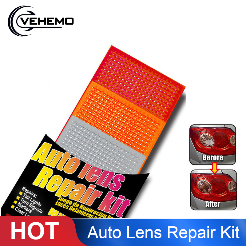 Vehemo Multicolor Repair Kit Lens Repair Film Universal Crack Lamp Film Cover Scratchproof Taillight
