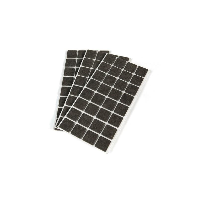 Bag 96 Felts Self-adhesive Emuca Square 25x25mm