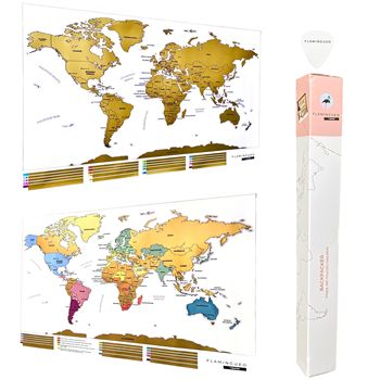 Flamingueo Scratching Map Mundi With Pua Personalized Vintage Poster Map Mundo's Big Map Mundi Mundi Map Wall Scratch Off