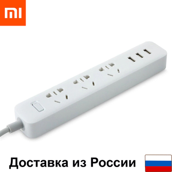 Extension Xiaomi Mi Power Strip (3 sockets + 3 USB, White) 1.8 m smart extension overload and short circuit protection