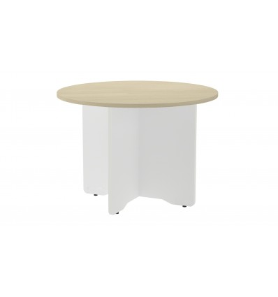 MEETING TABLE ROUND 120CM IN DIAMETER HEIGHT 72CM COLOR: WHITE LEG/DASHBOARD HAS