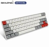 SKYLOONG SK68 PCB Mechanische tastatur Drahtlose Bluetooth Gaming Tastatur Heißer Swap ABS Tastenkappen Abnehmbare Kabel Für Win Mac