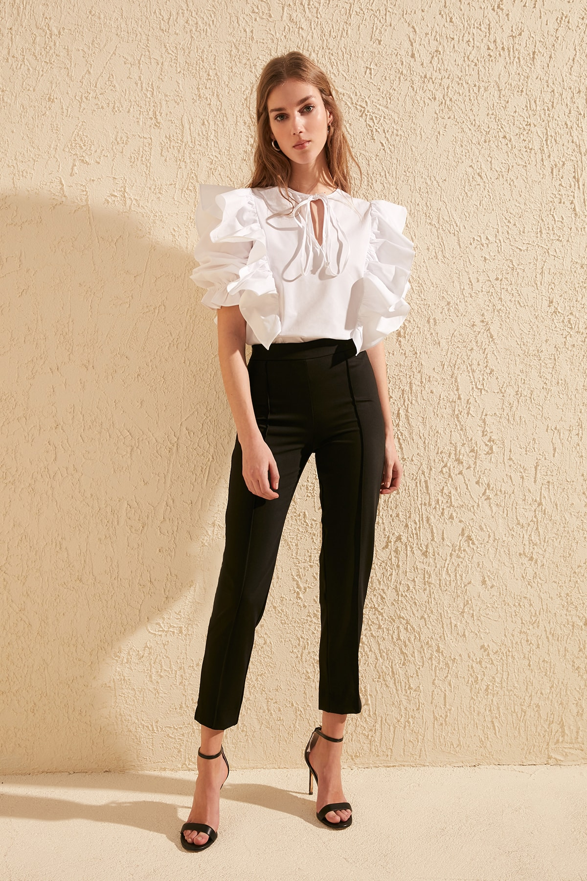 Trendyol Ribbed Pants TWOSS20PL0199
