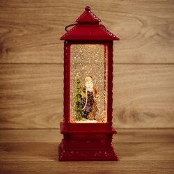 مصباح للزينة فانوس نيون-ليلة سانتا كلوز مع تأثير تساقط الثلوج والإضاءة الخلفية 10,5 о10, 5н27, 0 سنتيمتر