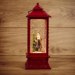 Dekorative lampe laterne NEON-NACHT Santa Claus mit die wirkung von schneefall und hintergrundbeleuchtung 10,5 х10, 5х27, 0 cm