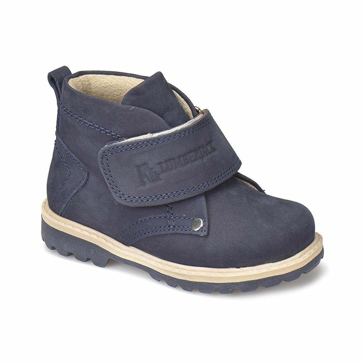 FLO ROCK Navy Blue Unisex Child Boots LUMBERJACK