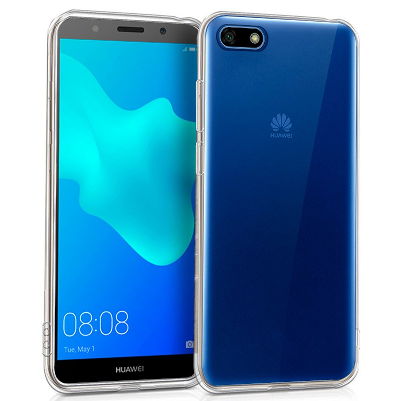 <font><b>Silicone</b></font> <font><b>case</b></font> Huawei Y5 (2018)/<font><b>Honor</b></font> <font><b>7S</b></font> (Transparent, soft, shockproof, dirt resistant) image