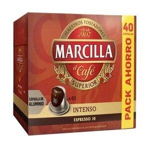 Intense, 40 caps aluminum Marilla compatible Nespresso®