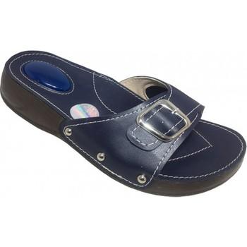 Komfort w stylu palucha (kostny Spurs) i są ostrogi pięty kapcie dorywczo klapki damskie granatowy niebieski kobiet miękkie 2020 nowe obuwie tanie i dobre opinie Płótno Dla dorosłych