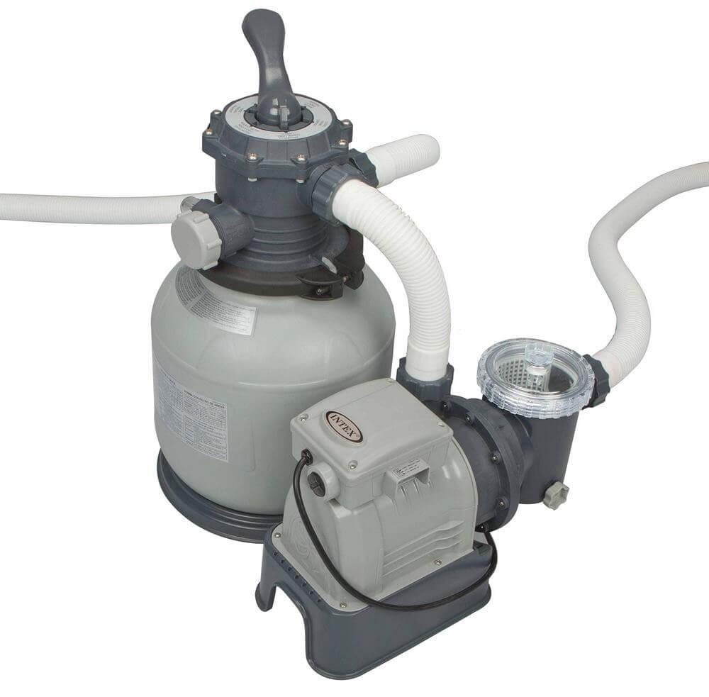 Sand Filter Pump Krystal Clear 8000 Liters/hour, 220-240 Volt, Intex, Item No. 26648