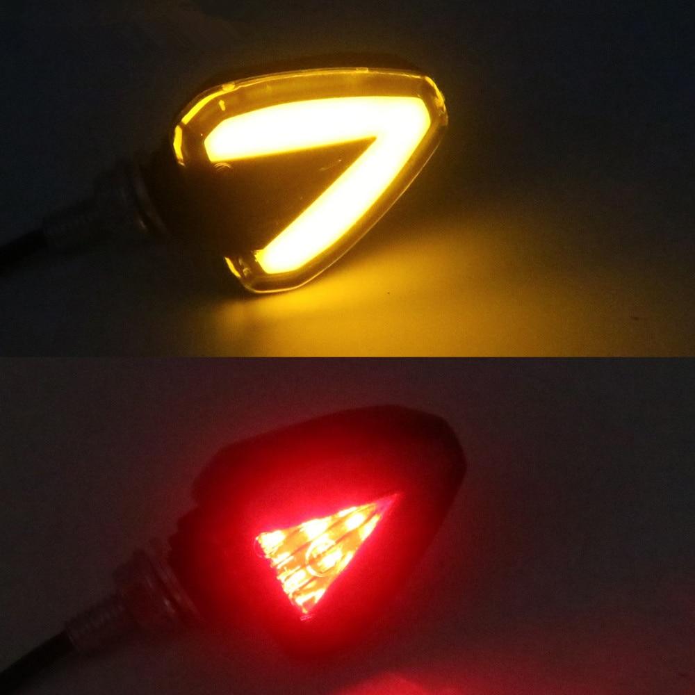 Universal Motorcycle Turn Signal And Brake Light Arrow Amber Lamp Turn Signal Brake Lights Indicators For Honda Suzuki Yamaha
