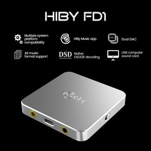 Hiby fd1 usb amplificador de auscultadores decodificação deskstop dac áudio dsd128 3.5/2.5mm saída para windows android ios macos smartphones