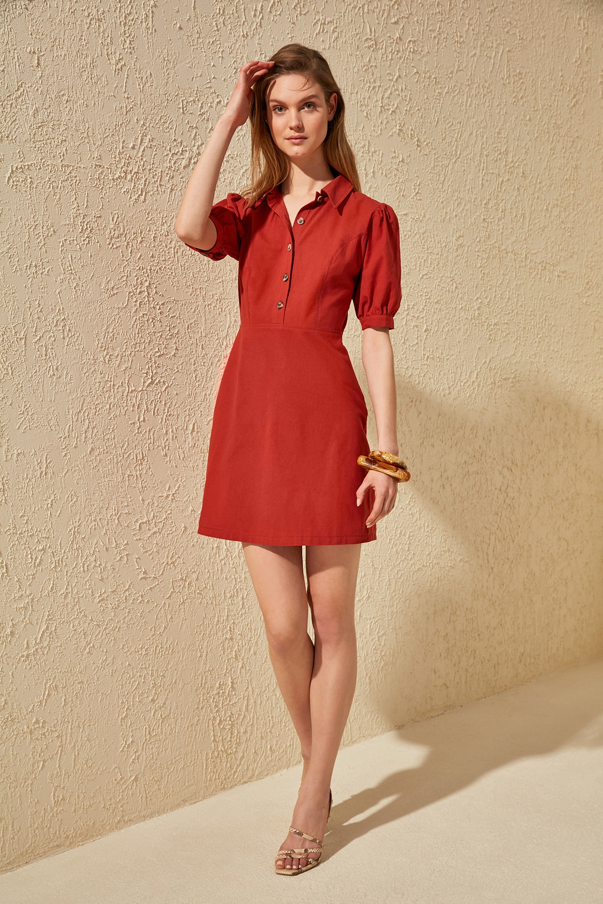 Trendyol Button Dress TWOSS20EL0478